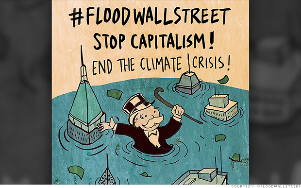 Climate protesters to 'flood' Wall Street