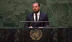 Leonardo DiCaprio: Climate change is real