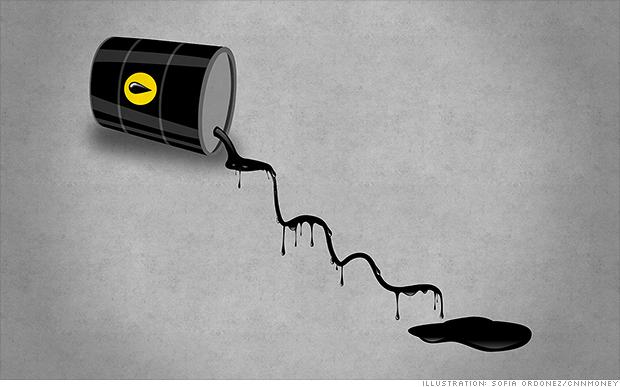 oil stock down