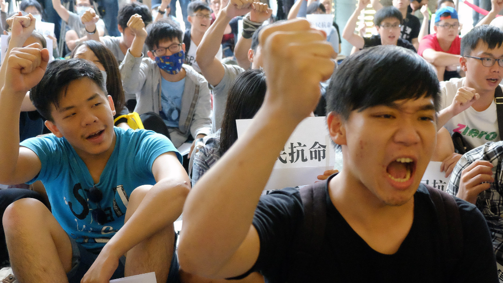 Hong Kong's own 'Occupy' enters day two