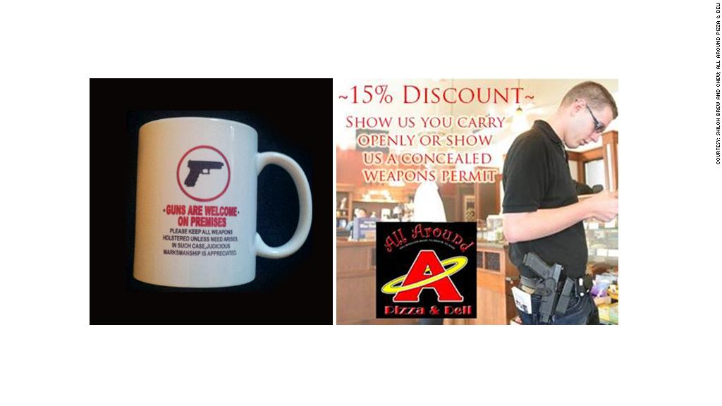 guns are welcome mug