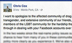 Facebook will loosen policy for drag queens