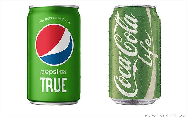 Coca-Cola y Pepsi lanzan sodas verdes con stevia