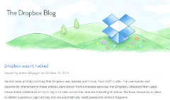 Dropbox: We weren't hacked!