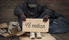 Over 48 million Americans live in poverty