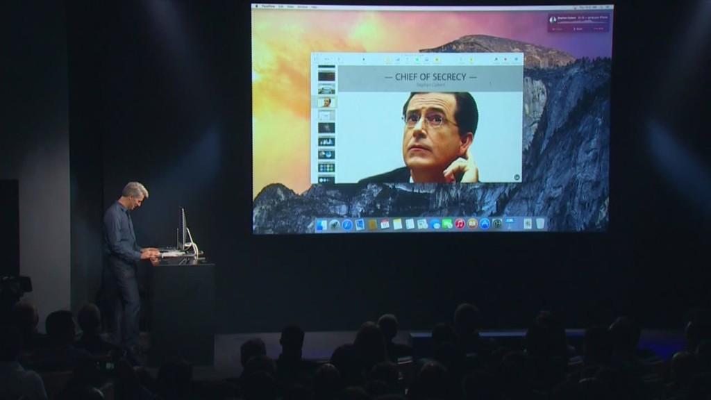 Apple calls Colbert, pokes fun at secrecy
