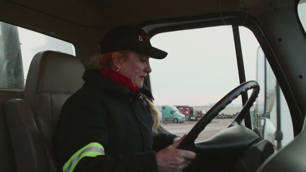 Truck-driving mom pulls in six-figures