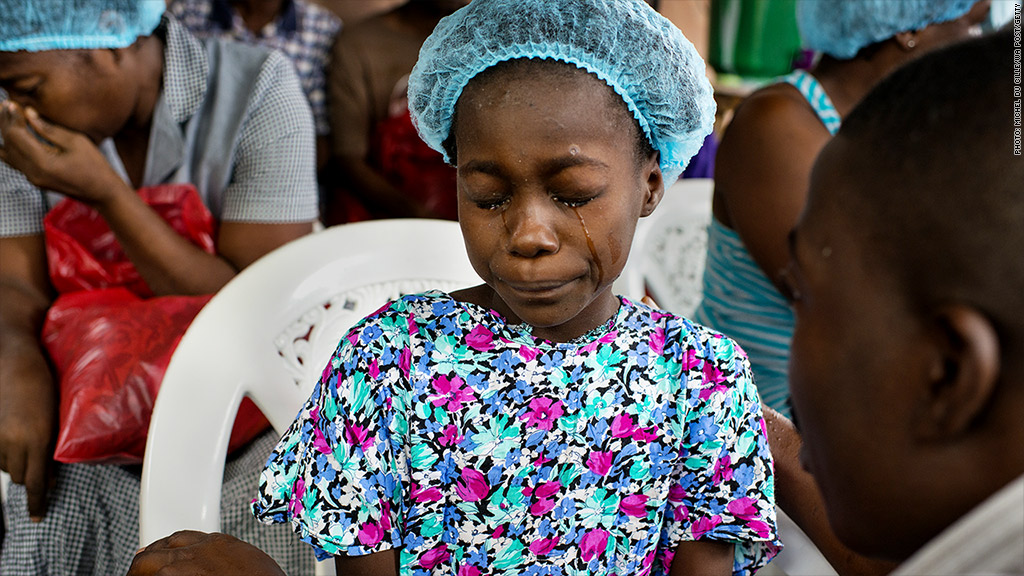 ebola child crying