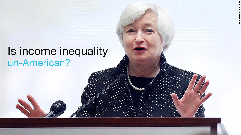 janet yellen income inequality