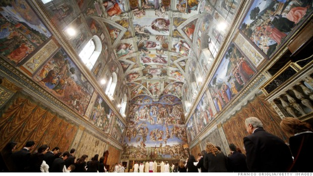 Porsche rents Sistine Chapel for Pope's charity