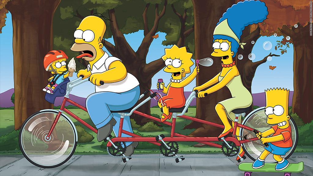 simpsons bike ride