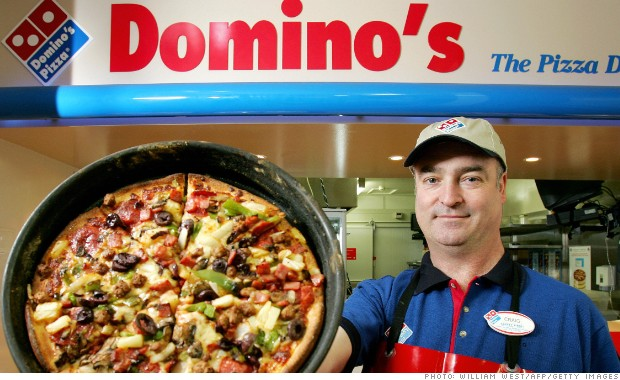 Domino's Pizza is hot again. The stock is at an all-time high