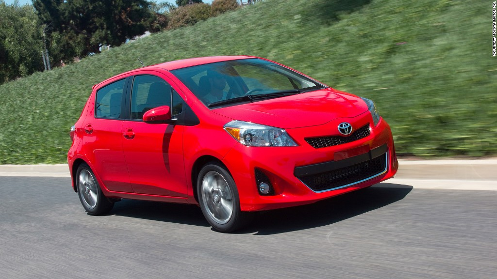 subcompact cars toyota yaris most reliable cars consumer reports cnnmoney. Black Bedroom Furniture Sets. Home Design Ideas