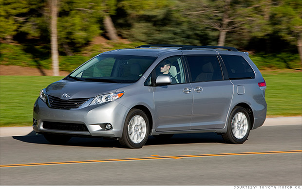minivans toyota sienna most reliable cars consumer reports cnnmoney. Black Bedroom Furniture Sets. Home Design Ideas