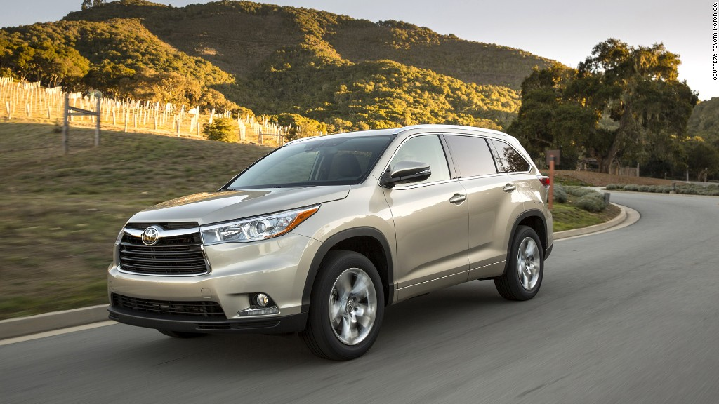 midsize suvs toyota highlander v6 most reliable cars consumer reports cnnmoney. Black Bedroom Furniture Sets. Home Design Ideas