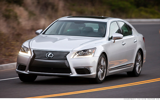 luxury midsize large cars lexus ls most reliable cars consumer reports cnnmoney. Black Bedroom Furniture Sets. Home Design Ideas