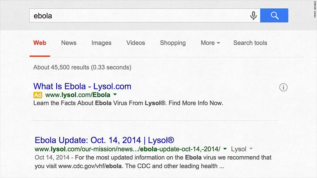 lysol ebola