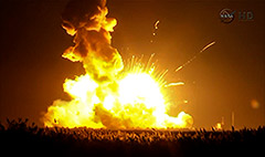 Exploding rocket company's stock plunges