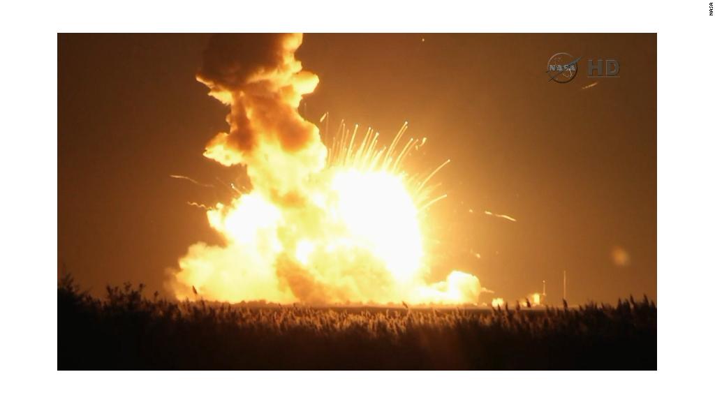 Rocket explodes on space station resupply mission