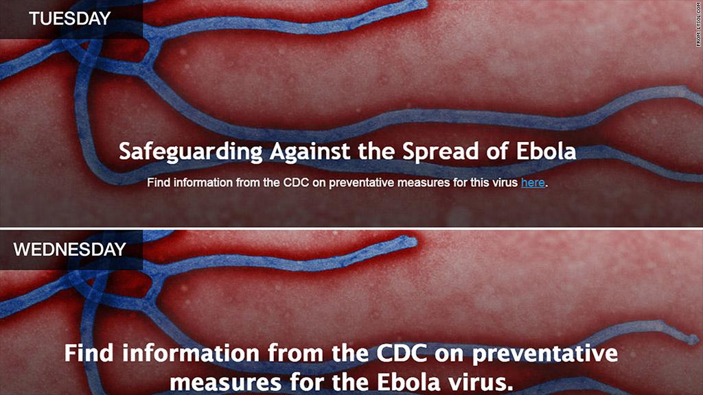 ebola lysol change