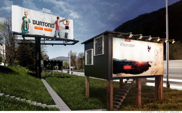 Homes for the homeless...inside billboards
