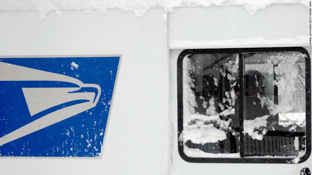 postal service snow