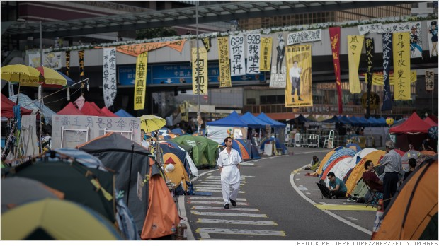 Hong Kong's prosperity hole fuels protests