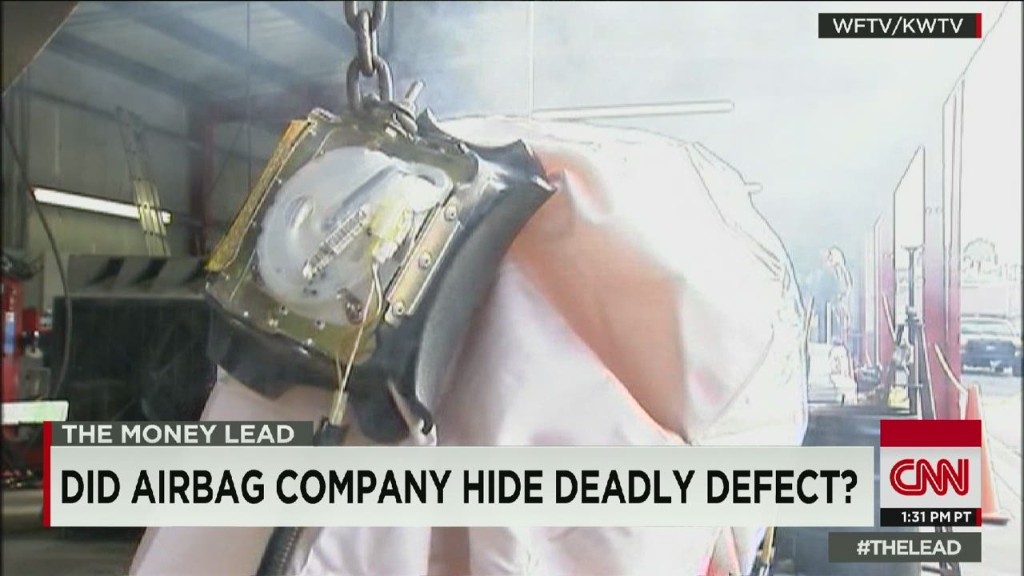 Airbag company accused of cover-up