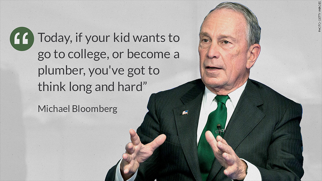 bloomberg plumber vs college
