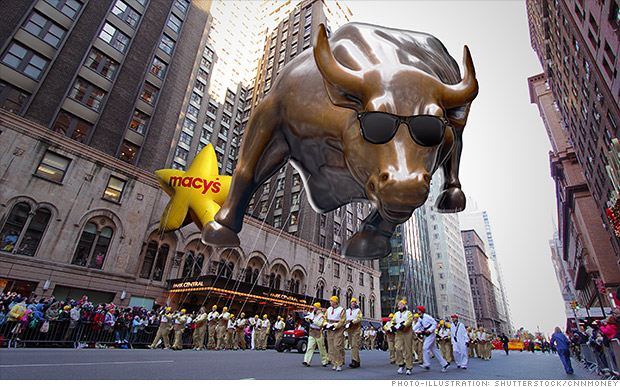 Stocks on track for best day of 2014