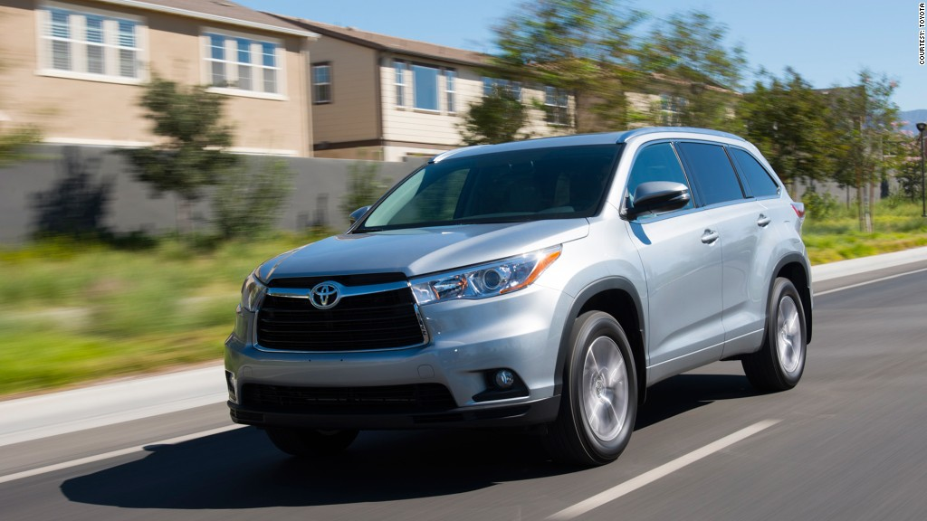 Mid-size SUV - Toyota Highlander - Kelley Blue Book names ...
