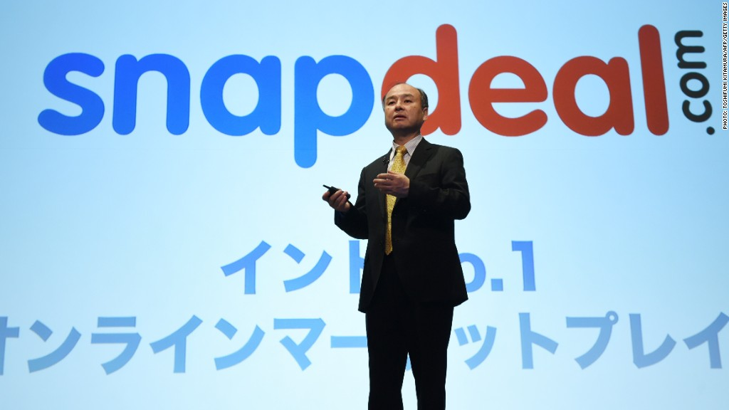 snapdeal softbank ceo