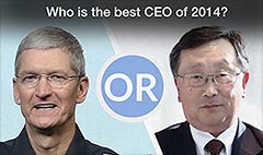 Best CEO of 2014: Apple's Cook or BlackBerry's Chen?
