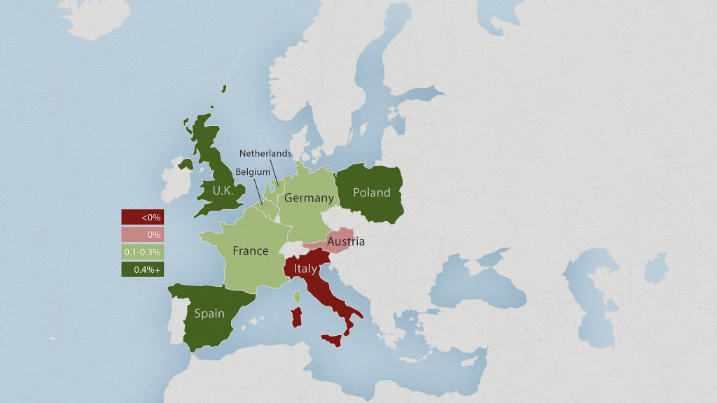 europe economy map