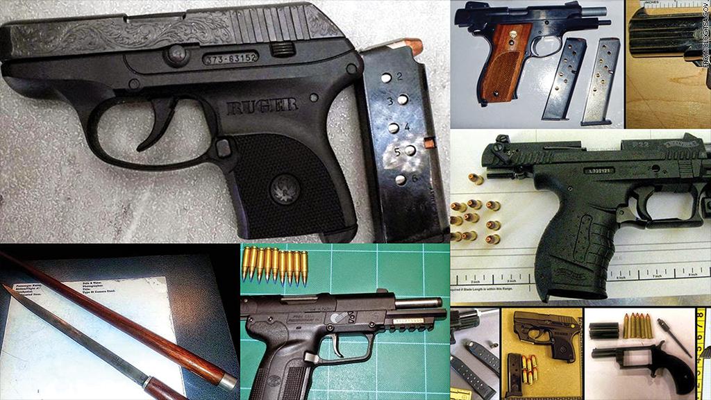 tsa confiscating guns