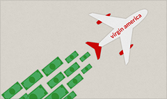 No turbulence for Virgin America. Stock up 50% since IPO