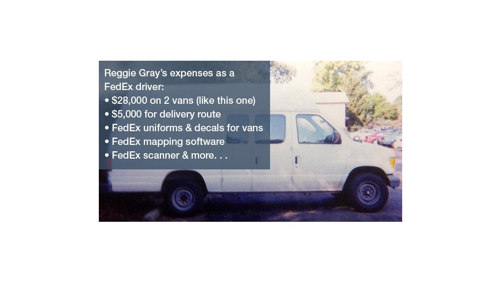 fedex gray van
