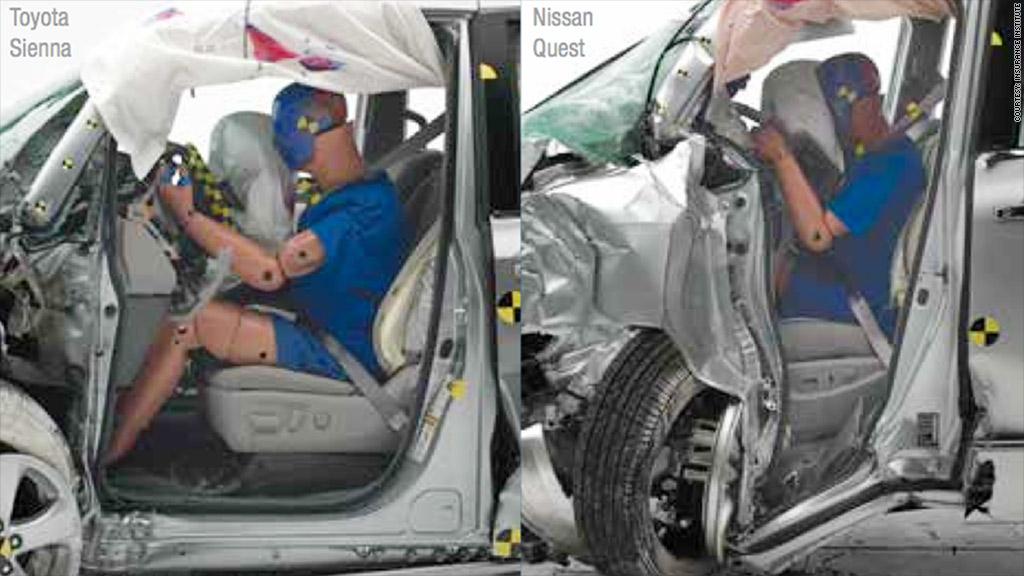 dummy minivan crash