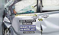 Crash test fail for minivans