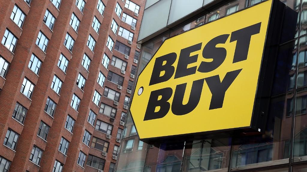 Best Buy soars. Take that, Amazon!