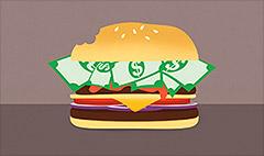 Burger mania hits Wall Street