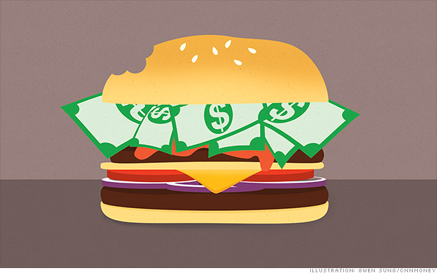 Burger mania hits Wall Street