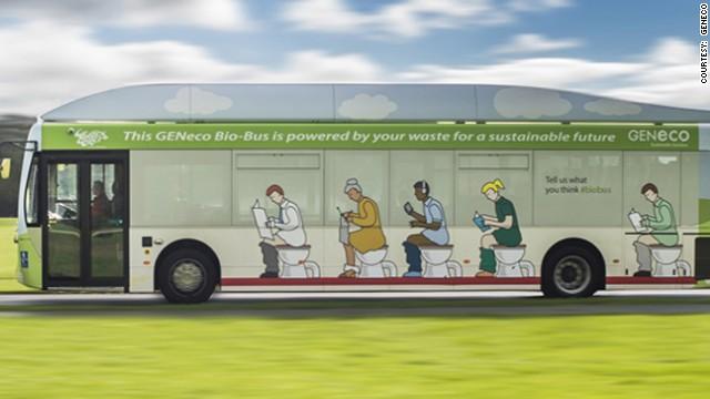 Este autobús se mueve impulsado por excrementos humanos
