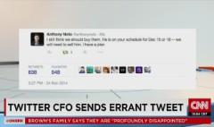 Oops! Twitter CFO mis-tweets