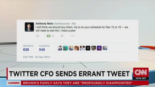 CEO de Twitter envía por error un tuit sobre una posible adquisición
