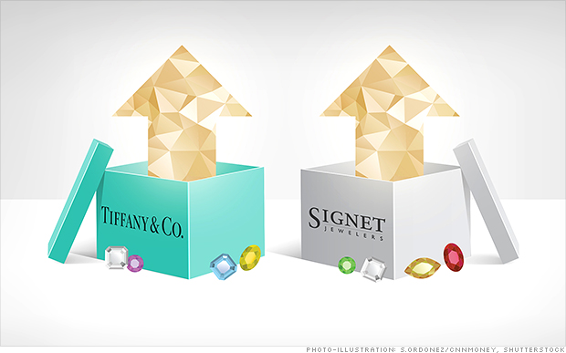 Stock market gems: Tiffany and Signet surge