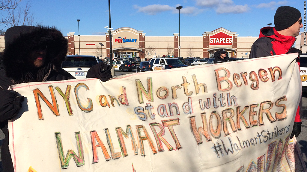 walmart stand with workers