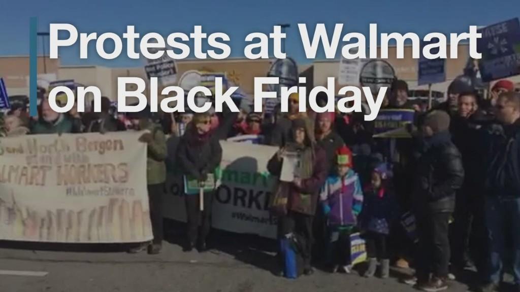 Protests at Walmart on Black Friday