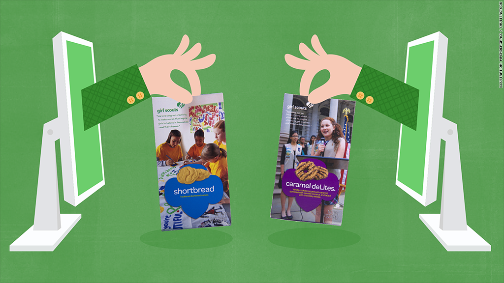 Click for cookies: Girl Scouts go digital