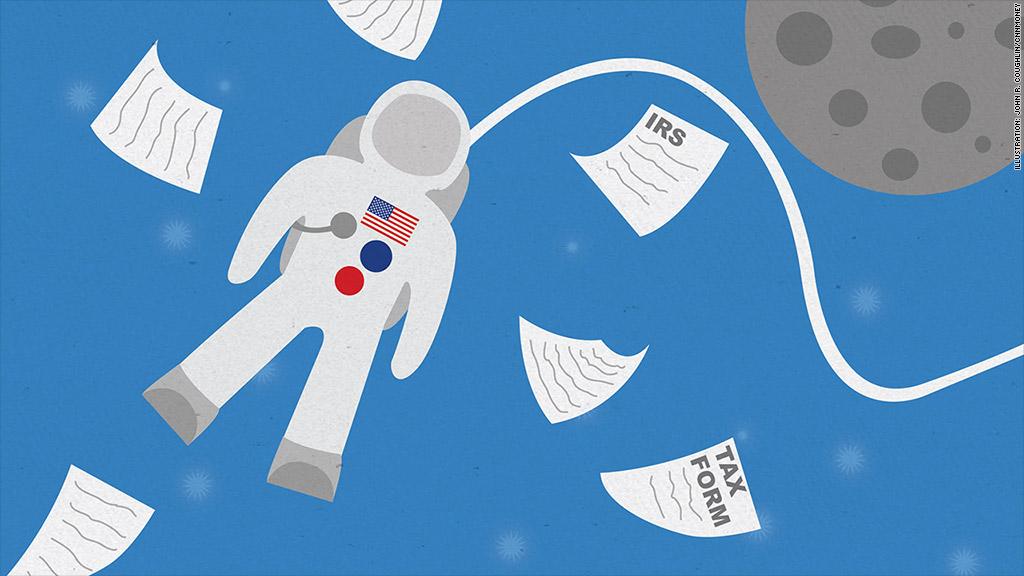 astronaut irs taxes